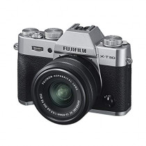 Fujifilm X-T30 Mirrorless Digital Camera w/XC15-45mm Kit - Silver (074101040418)