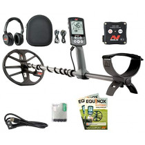 "Minelab EQUINOX 800 Multi-IQ Metal Detector with EQX 11"" DD Smart Coil, Wireless Headphones and WM08 Adapter. (811493016702)"