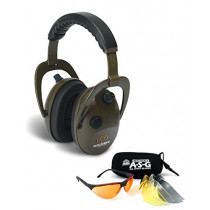 Walkers Alpha Muffs/Shooting Glasses Combo w/ 4 Interchangeable Lenses GWP-PMA4LGS