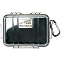 Pelican Products 1020-025-100 1020 MICRO CASE BLK W/CLEAR LID LINER 5.31X3.56X1.68