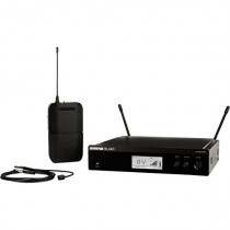 Shure BLX14R/W93-H10 Wireless Presenter Rack Mount System with WL93 Lavalier Microphone, H10