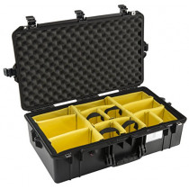 Pelican 1605 Air Lightweight Watertight Case with Padded Dividers, Black