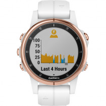 Garmin fēnix 5s Plus, Smaller-Sized Multisport GPS Smartwatch, Features Color TOPO Maps, Heart Rate Monitoring, Music and Garmin Pay, White/Rose Gold