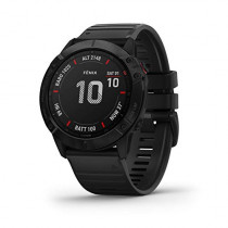 Garmin Fenix 6X Sapphire, Premium Multisport GPS Watch,  -Carbon Gray DLC with Black Band-  (010-02157-10)