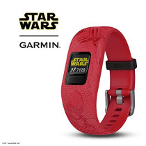 Garmin vívofit Jr 2, Kids Fitness/Activity Tracker, 1-Year Battery Life, Adjustable Band, Star Wars Dark Side, Red