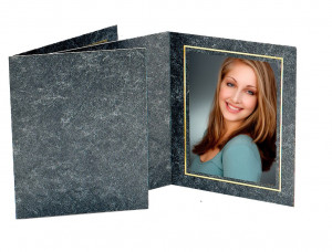 TAP Avanti Photo Folder Black Marble/Gold- (box of 100)