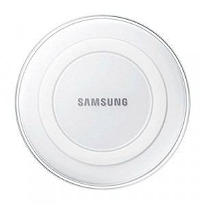 Samsung Wireless Charging Pad w/ 2A Wall Charger - White Pearl
