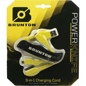 Brunton Power Knife Multi-Charger Unit, Black/Yellow F-PWRKNIFE