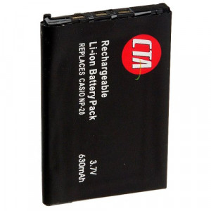 CTA Digital DB-NP20 NP-20 Rechargeable Lithium-Ion Battery (630mAh, 3.7V) Replacement for Casio NP-20 Battery