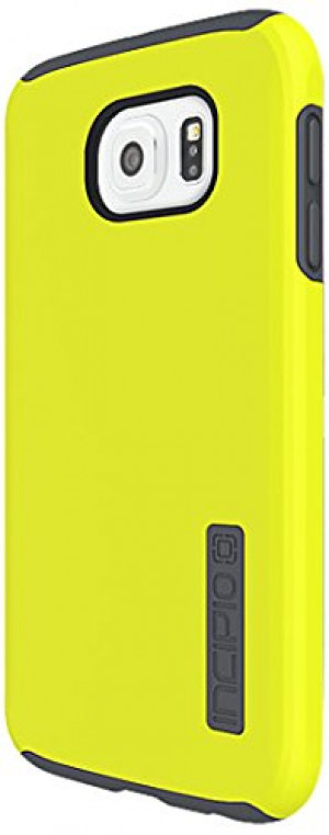 Samsung Galaxy S6 Case, Incipio [Shock Absorbing] DualPro Case for Samsung Galaxy S6-Lime/Charcoal