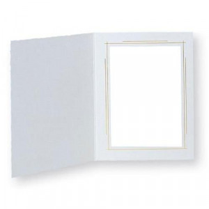 TAP PHOTO FRAMES WHITEHOUSE 5X7 WHITE/GOLD (100 PACK)