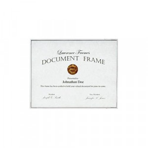 Thin Line White document frame by Lawrence Frames 8x12 -