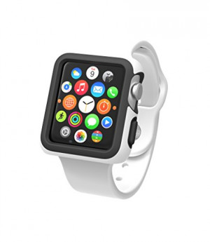 Speck Products CandyShell Fit Case for Apple Watch 38mm, White/Black
